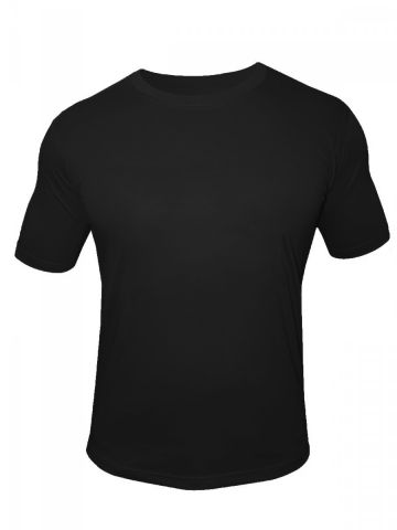 NoLogo Cotton Black Round Neck T-Shirt at cilory