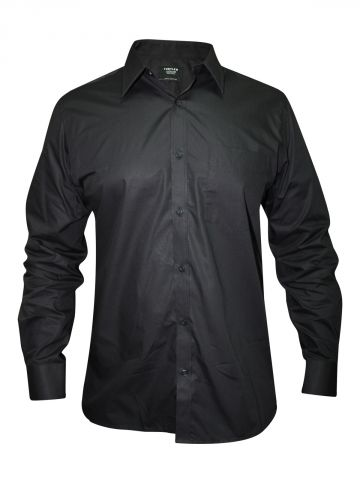Turtle Pure Cotton Black Regular Fit Shirt at cilory
