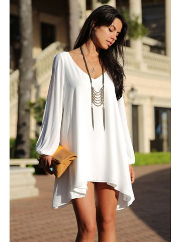 https://static.cilory.com/116894-thickbox_default/white-chiffon-leisure-mini-skater-jersey-dress.jpg