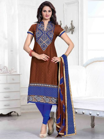 https://static5.cilory.com/126490-thickbox_default/designer-brown-blue-semi-stitched-casual-wear-suits.jpg