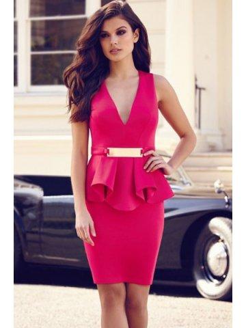 https://static4.cilory.com/137471-thickbox_default/rose-deep-v-ruffle-peplum-dress-with-metal-plate.jpg