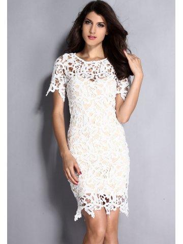 8848967d521  Cream White 2pcs Hollow-out Lace Midi Dress.  https   static8.cilory.com 164555-thickbox default cream-