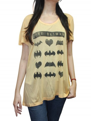 Batman Yellow Half Sleeves Tee at cilory
