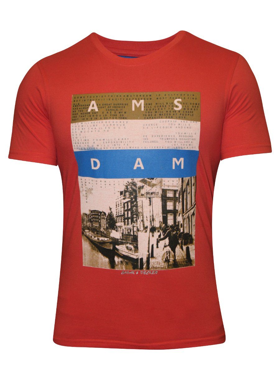 Buy t shirts online monte carlo c d coral round neck t for Buy t shirts online