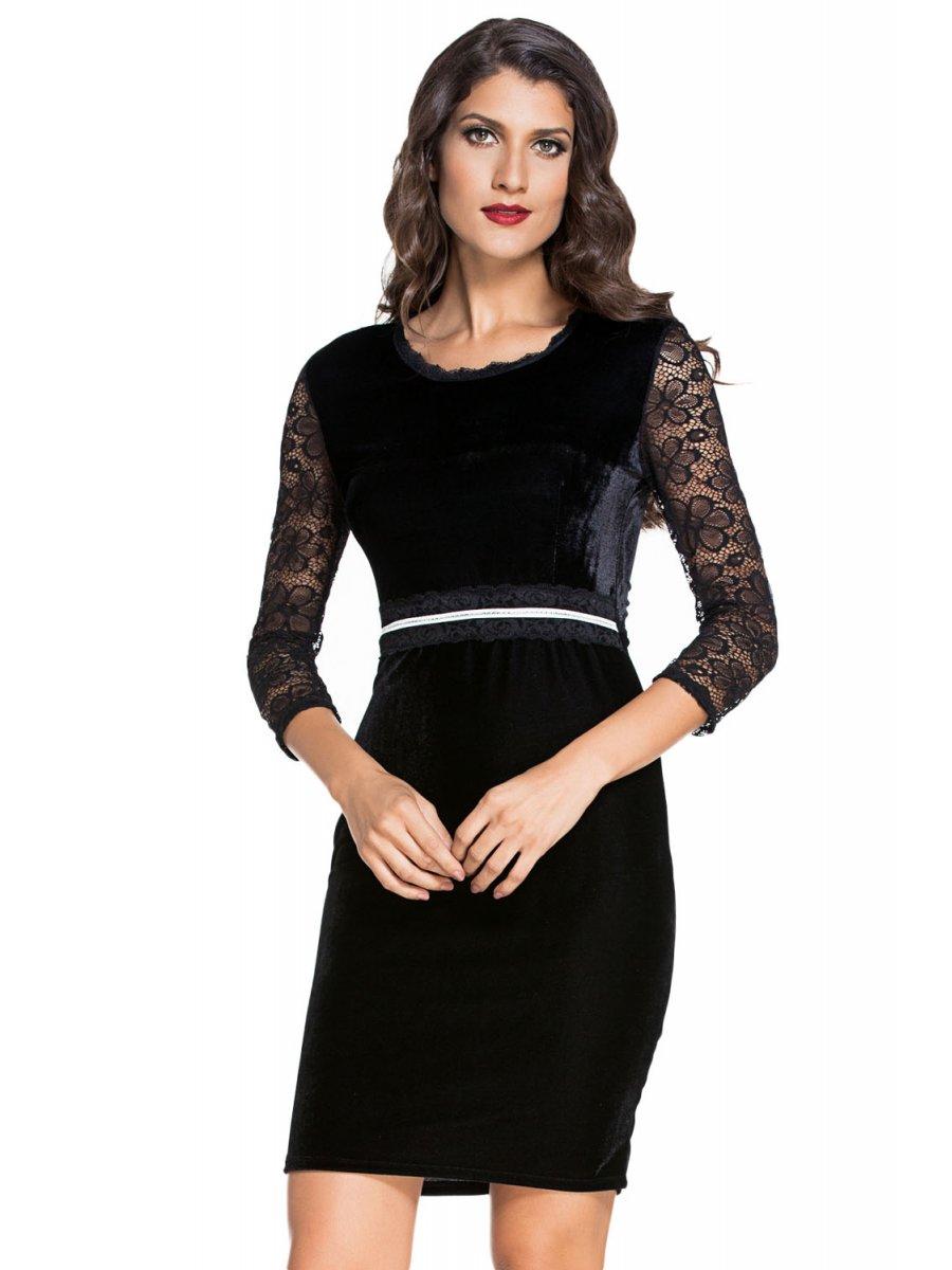 Juniors black velvet bodycon midi dress with sleeves canada for