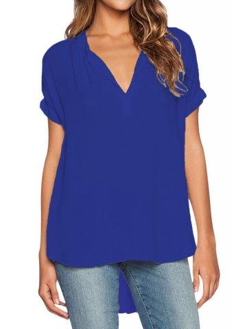 https://static3.cilory.com/207315-thickbox_default/blue-v-neck-short-sleeve-oversize-blouse.jpg
