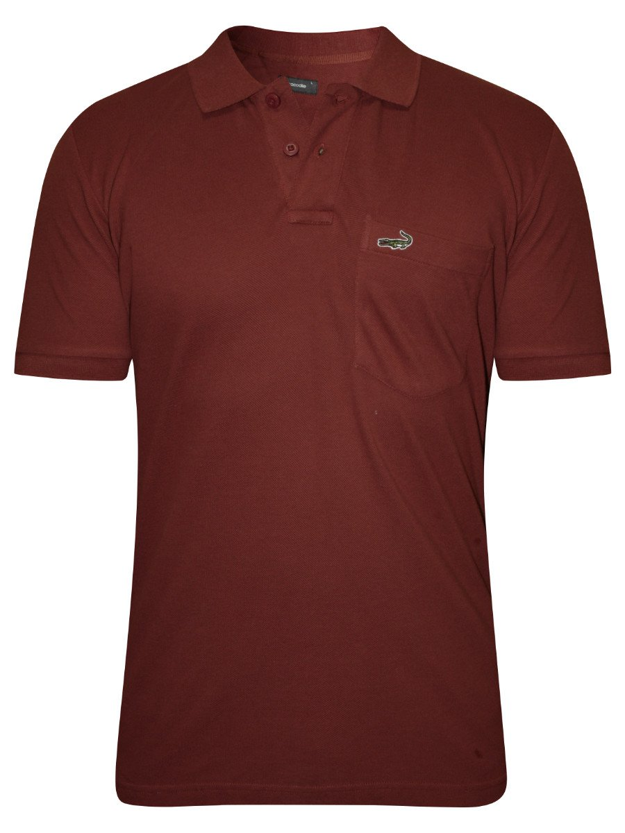 Crocodile brown pocket polo t shirt aligator wp brown for Polo t shirts with pocket online