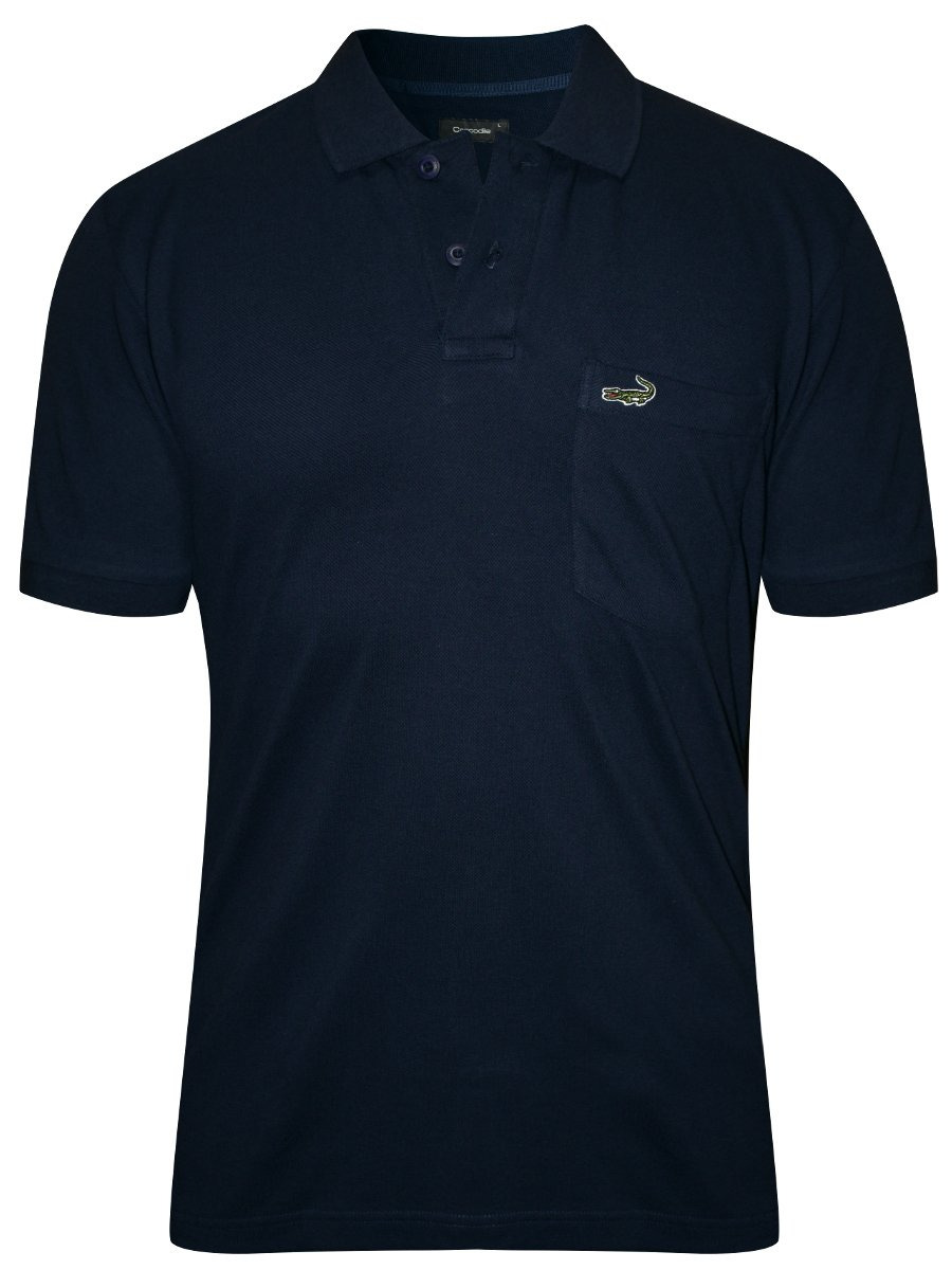 Crocodile navy pocket polo t shirt aligator wp navy for Polo t shirts with pockets