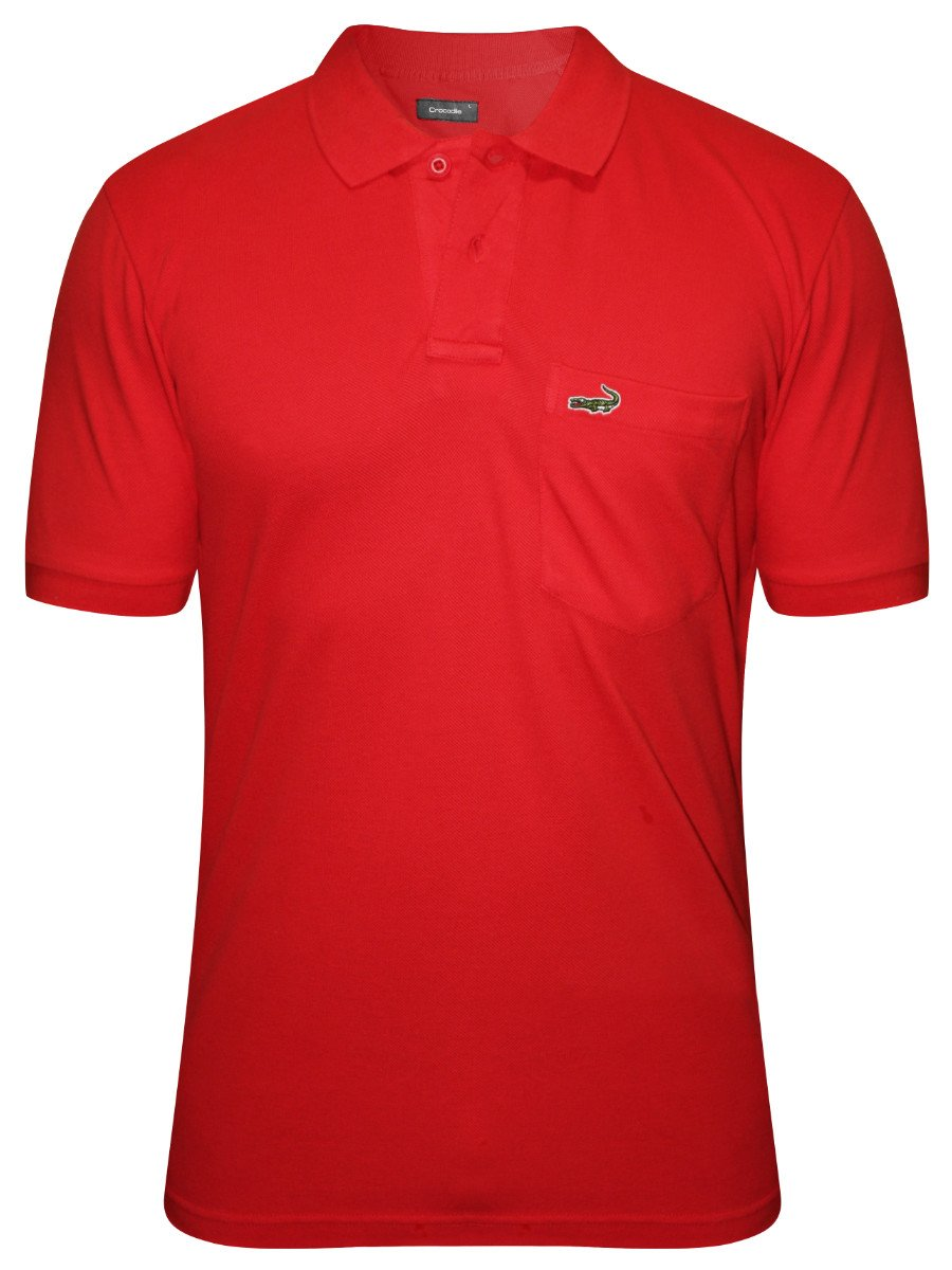 Crocodile red pocket polo t shirt aligator wp racing red for Polo t shirts with pockets