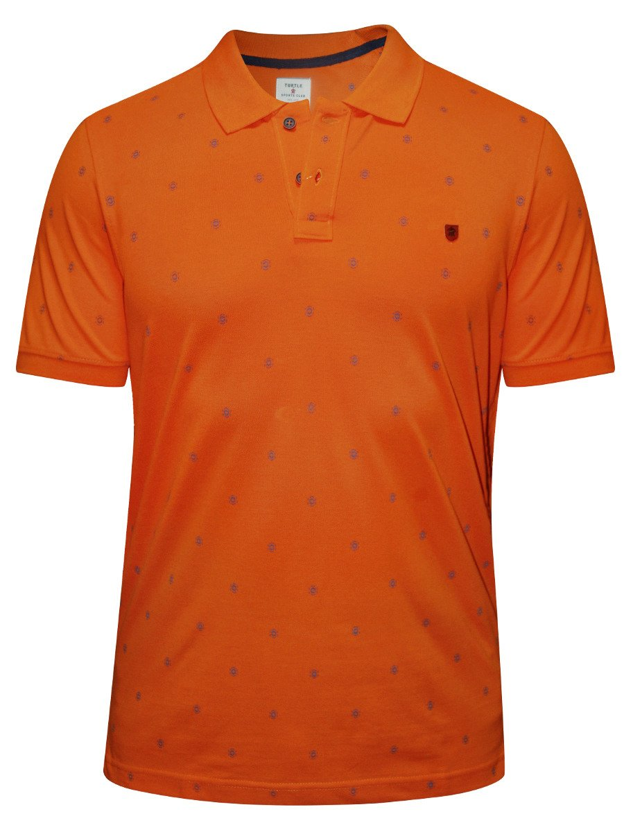 turtle orange printed polo t shirt 35687 1001