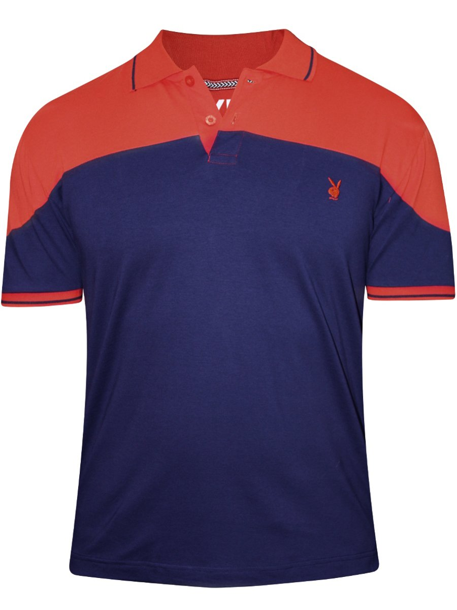 Buy t shirts online playboy navy polo t shirt lw709 for Plain navy polo shirts