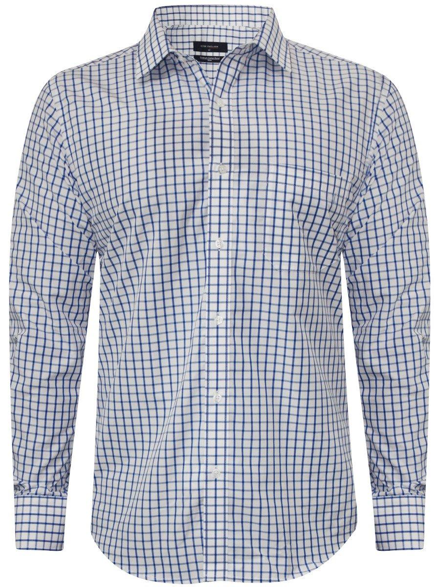 Peter England Blue Formal Shirt Psf51601392 Cilory Com