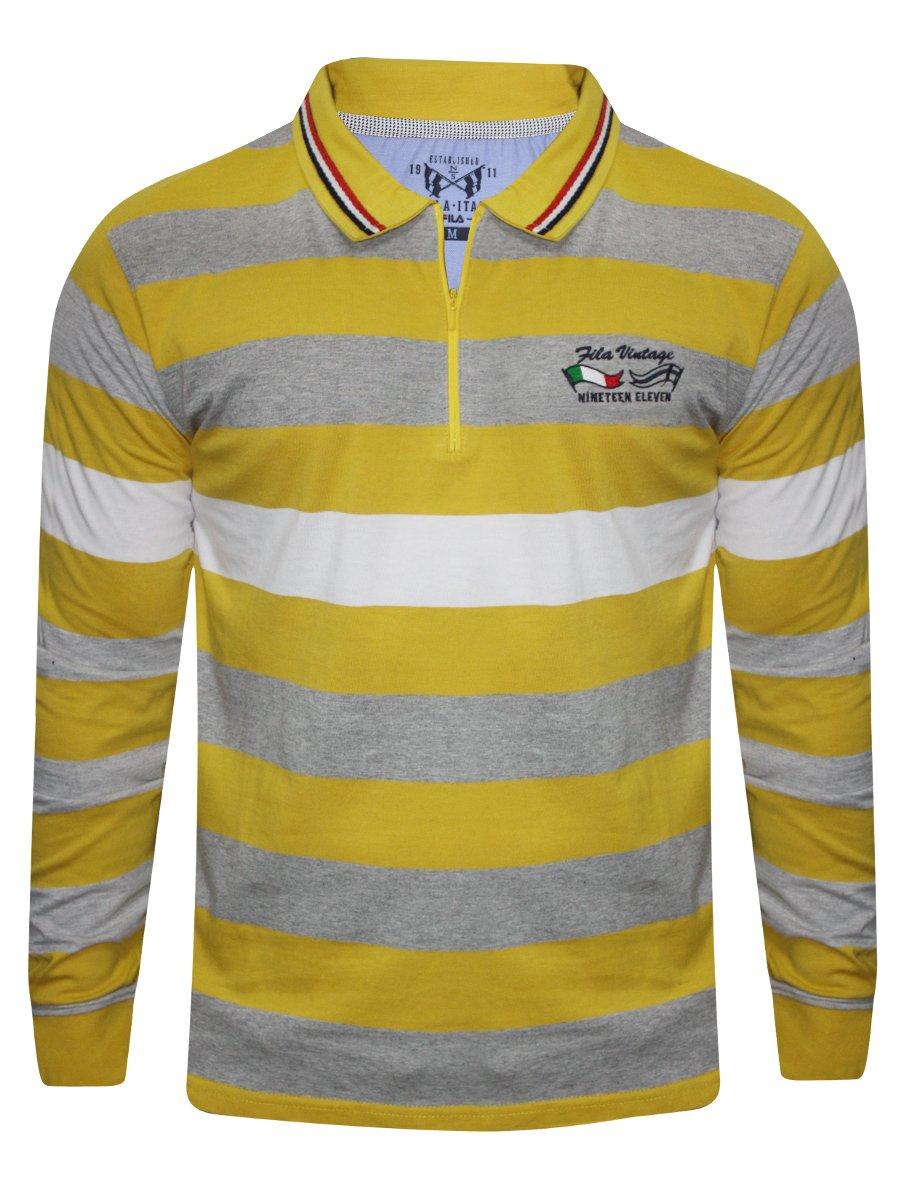 Fila mustard polo full sleeves t shirt 12004248 gdn rod for Full sleeve polo t shirts