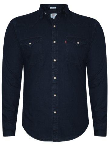Levis Dark Blue Casual Denim Shirt at cilory