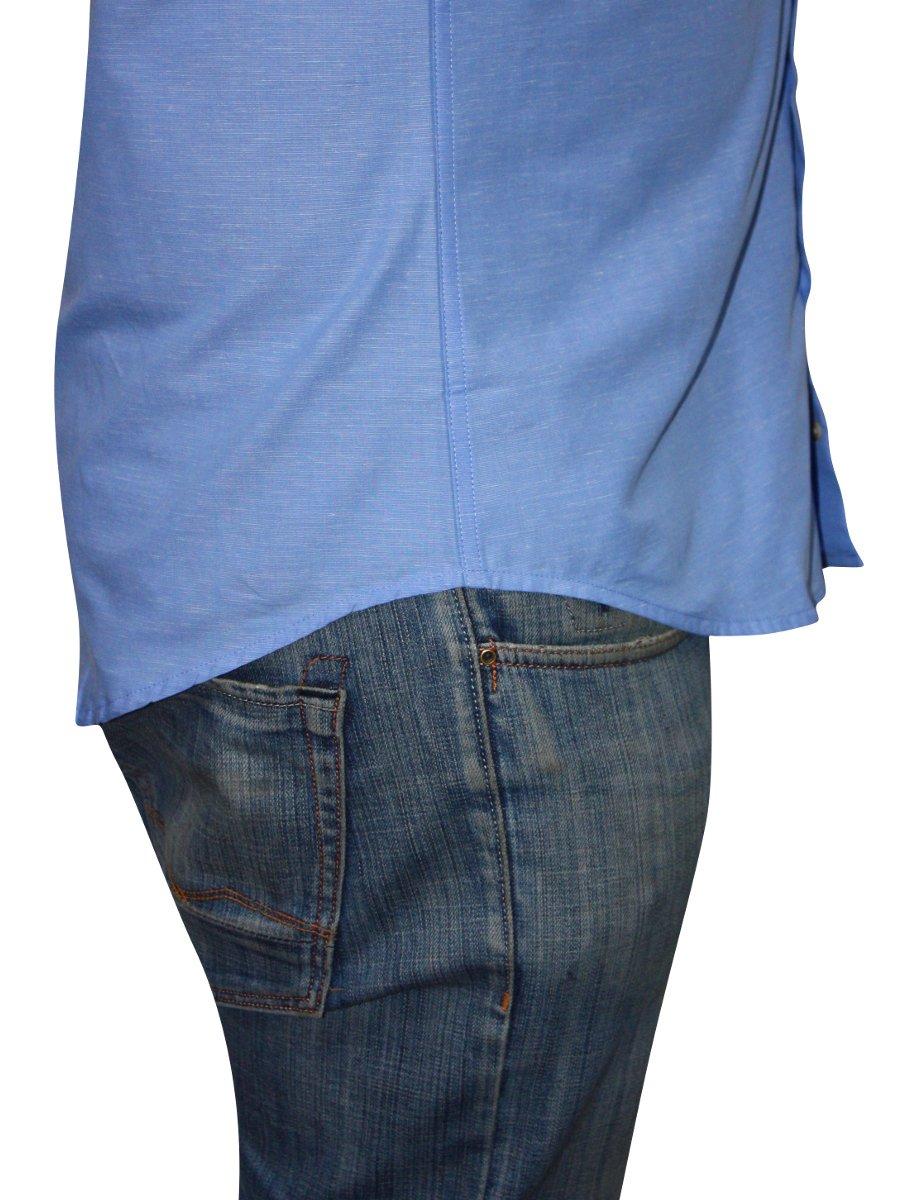 Peter england light blue cotton linen shirt psf31702267 for Mens light blue linen shirt