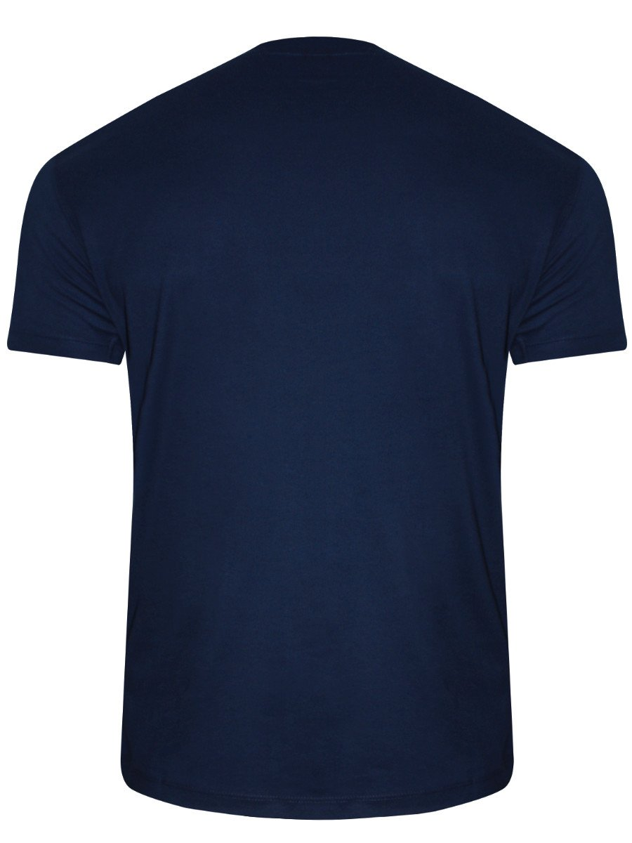 Buy t shirts online lee navy blue round neck t shirt for Navy blue shirt online