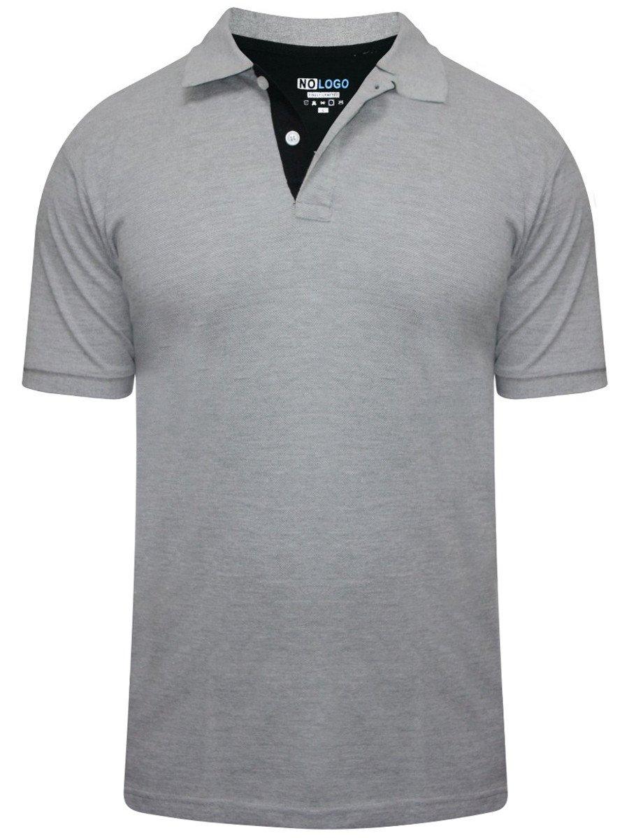 Buy T Shirts Online Nologo Grey Polo T Shirt Nologo Pt 054