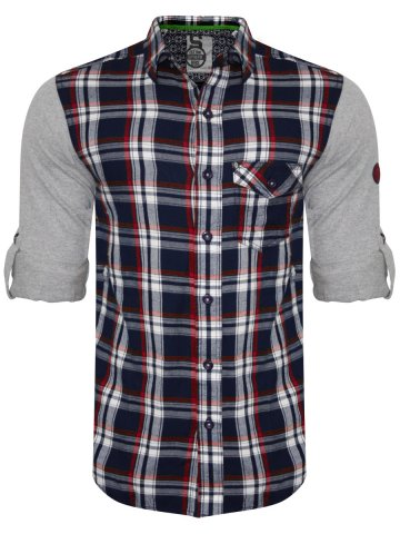 Spykar Pure Cotton Indigo Red Shirt at cilory