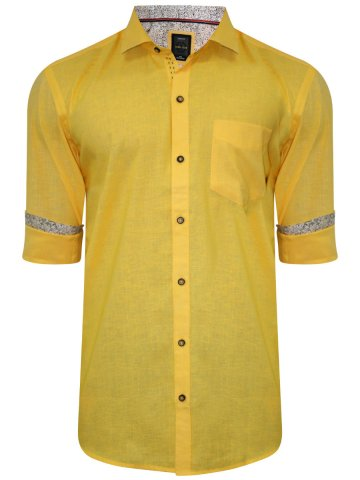 Alpha Male Yellow Partywear Shirt at cilory