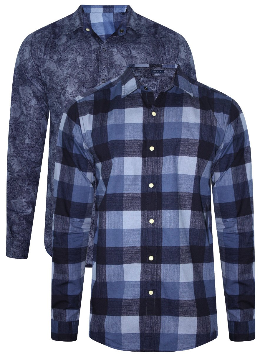 Pepe Jeans Blue Reversible Casual Shirt Pimw200070-blue