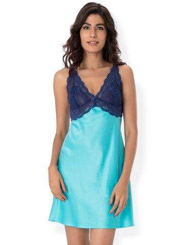 e1aa4d3042 Buy Nightwear Online | Prettysecrets Blue Satin & Lace Nightdress ...