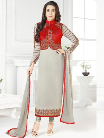 005a33d2a2662b ... Red Semi Stitched Embroidered Suit with Jacket.  https://static6.cilory.com/314888-thickbox_default/pakiza-