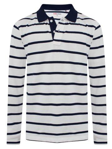4e6f5125 >NoLogo White & Navy Full Sleeves Stripes Polo.  https://static3.cilory.com/318628-thickbox_default/nologo-