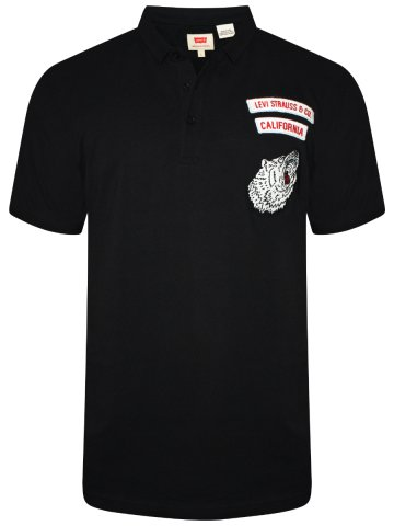Levis Black Polo Badges T-shirt at cilory
