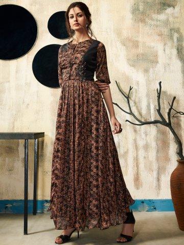 efe3106380 >Nitya Black Designer Gown Style Kurti.  https://static7.cilory.com/343961-thickbox_default/nitya- View full size