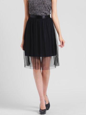 Rigo Black Mesh Tulle Skirt at cilory