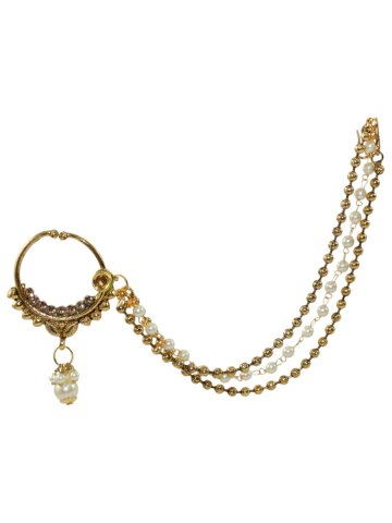 Traditional Nose Ring With Long Chain