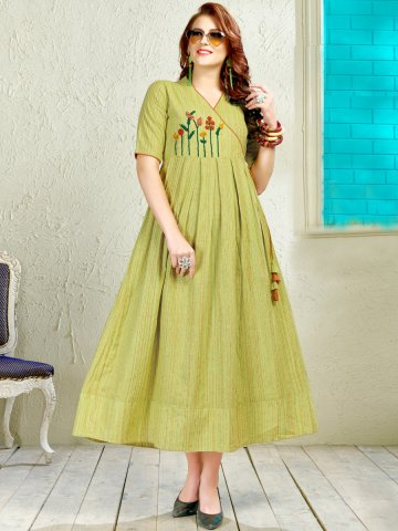 https://static4.cilory.com/396385-thickbox_default/green-embroidered-cotton-kurti.jpg