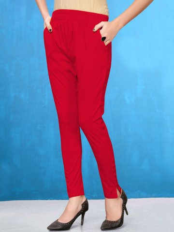 https://static3.cilory.com/407820-thickbox_default/red-lycra-pencil-pants.jpg