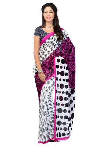 https://static3.cilory.com/89817-thickbox_default/jaipur-kurti-s-elegant-pinkblack-and-white-faux-georgette-saree-paired-with-blouse.jpg